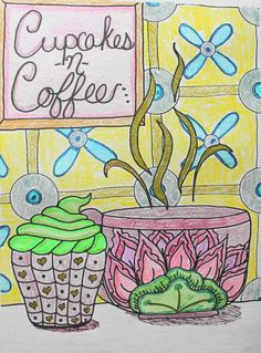 Tea Cups and Coffee Pots Coloring Insert for Midori Style Traveler's Notebooks or Fauxdori. 26 Cover Color Choices and 5 TN Sizes by AORJournals from AOR Journals by Ann. Find it now at http://ift.tt/1Qifi9D!