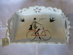 """Decorative tray """"Paris"""" made of MDF Dimensions x x Handmade Decorations, Different Colors, Decoupage, Unique Gifts, Tray, Paris, Ornaments, Pattern, Ideas"""