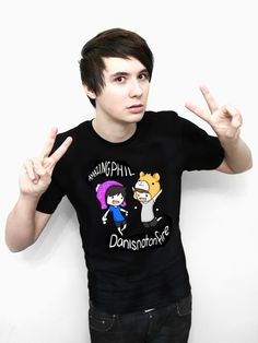 Dan and Phil Classic Design T-shirt (Black) – Dan & Phil Shop