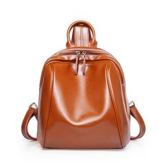 02d2318cd1 Simple Oil Wax Leather School Women s Backpack  simplyonly  fashion   backpack  leathers