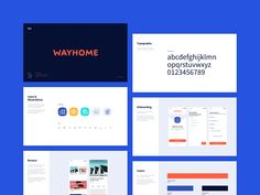 Sales Deck - Wayhome designed by Eva Kuttichová for STRV. Connect with them on Dribbble; Website Design Layout, Website Design Inspiration, Web Layout, Brand Inspiration, Portfolio Web Design, Portfolio Website, Sales Deck, Modern Website, Brand Guidelines