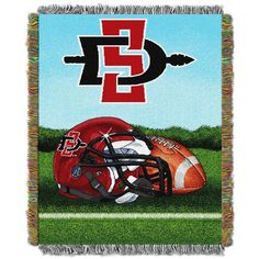 San Diego State Aztecs Throw Blanket Afghan Tapestry