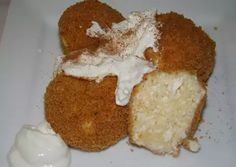 Túrógombóc   Antukné Ildikó receptje - Cookpad receptek Muffin, Pudding, Breakfast, Desserts, Food, Morning Coffee, Tailgate Desserts, Deserts, Custard Pudding