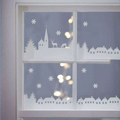 Are you interested in our Christmas Village Scene Vinyl Stickers? With our christmas window stickers you need look no further. Christmas 2014, All Things Christmas, White Christmas, Christmas Crafts, Christmas Ornaments, Handmade Christmas, Christmas Scenery, Christmas Tree, Xmas Window Decorations