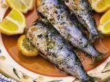 Receita Sardinhas assadas com limão e orégano