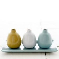 Heath Ceramics - Gifts - Bud Vase Set: Just a nice set of ceramic vases for that house warming gift you forgot to deliver. Ceramic Store, Inspired By Charm, San Francisco Design, Heath Ceramics, Wallpaper Magazine, Up House, Ceramic Design, Bud Vases, Earthenware
