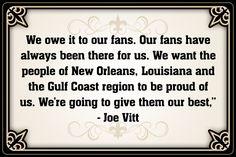 New Orleans Saints Assistant Head Coach/linebackers coach Joe Vitt quote