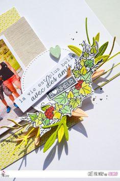 """Mary : #Tampons et #matrices de coupe #dies #4enSCRAP """"L'#amitié est précieuse"""" #texte #scrapbooking #DIY #loisirscréatifs #carte #carterie Mini Albums, Tampons Transparents, Scrapbooking Diy, Napkins, Tableware, Roses, Happy Moments, Ink Stamps, Flower Crowns"""