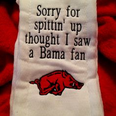 Hog burp cloth! WPS!