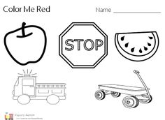 Printables Preschool Worksheets For The Color Red color recognition find the red awesome preschool worksheet craft http