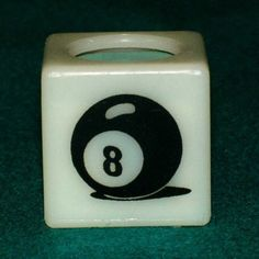Billiard Pool Cue Chalk Holder - 8 Ball (White) by Chalk Box. $5.95. Billiard Pool Cue Chalk Holder - 8 Ball (White)  The Professional's Chalk Container  This is a personal plastic chalk holder. The innovative sliding joint provides you with a PERMANENT Chalk Box, totally encasing the cube of chalk.  We concentrate on the smaller techniques, so you can concentrate on the techniques that make your game its best!!   Tired of relying on the billiard hall's beat u...