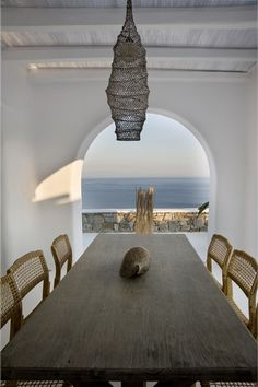 #modernglobalstyle - coastal dining room