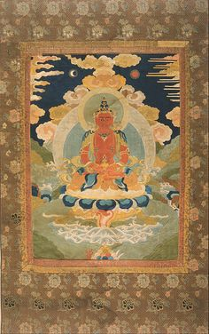 Artist unknown, Amitayus, the Bodhisattva of Limitless Life, China, 1761. Qing Dynasty