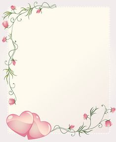 Romantic Wedding Invitation Template Card Background With hearts and Roses Flourishing Embellishment Borders For Paper, Borders And Frames, Heart Wallpaper, Flower Wallpaper, Wedding Invitation Templates, Wedding Invitations, Page Borders Design, Invitation Background, Birthday Frames