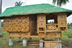 How about modern bamboo house plans? Bamboo is the member with the most varieties within the grass family and has thousands of uses. Bamboo House Design, Simple House Design, House Design Photos, Bamboo Building, Building A House, Bahay Kubo Design Philippines, Filipino House, Philippine Architecture, Hut House