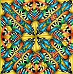 Square Kaleidoscope Polymer Clay Cane 'Cosmic by ikandiclay, $15.00