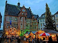 Christmas Market in Marburg, Germany