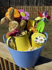 looking for cute easter basket ideas.....without candy and cheap-o plastic toys