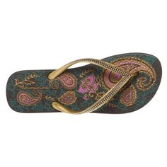paisley print flip flops...I have these and love them.