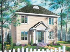 Eplans New American House Plan - Bright and Light Main Level Living - 1181 Square Feet and 2 Bedrooms from Eplans - House Plan Code HWEPL13742