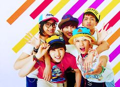 Its so hard for me to pick a bias in b1a4. Like you have Baro who immediately gains you're attention and is so sexy. Then CNU starts singing and you fall for his sweet voice as he sings looking so cute... Then Jinyoung starts singing and his grin catches your eye and makes you die a bit inside. Then Gongchan steps forward and he is just so beautiful it makes you wonder. And Sanduel. He blows your mind with his voice and cute facial expressions. I just can't with b1a4
