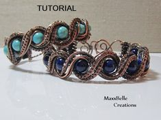 TUTORIAL - Double Twisted Wire Weave Bracelet