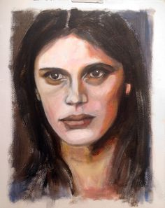 Women of the moment: Marine Vacth, acrylic on paper 40x50