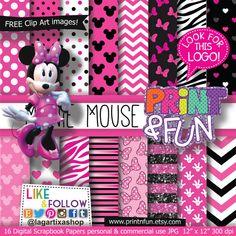 MINNIE MOUSE Clubhouse Disney Topolina Carta Digitale di Printnfun