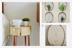 DIY para decorar con rodajas de madera | Decorar tu casa es facilisimo.com