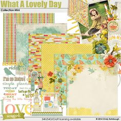 What A Lovely Day Collection Mini Digital Scrapbooking Kit by Cindy Rohrbough | ScrapGirls.com