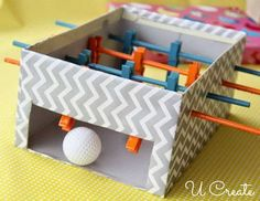 foosball table, Cute Clothespin Crafts and Ideas, http://hative.com/cute-clothespin-crafts-and-ideas/,