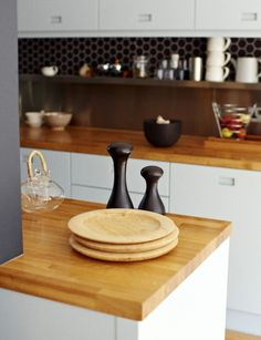 Solid Oak Kitchen Counters