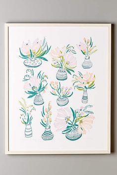 louie wallace  Bouquets En Vase Print - anthropologie.com