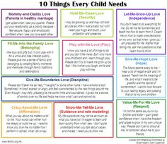 10 Things Every Child Needs