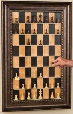 How to Make a Vertical Wall-Mounted Chessboard « Board Games ... Our sand stone pieces?