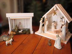 Nativity Creche Stable for Willow Tree WITH von SilverHollyLLC
