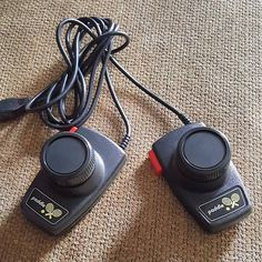 On instagram by retrogameronline #atari2600 #microhobbit (o) http://ift.tt/1M7m6M0 morning Instagram it's time for another #accessorytuesday post and today I'm looking at a pair of Atari Paddle controllers for the Atari 2600. These paddle controllers are ideal for playing those classic Atari games like Pong or Breakout and on occasion can be used as steering for racing games like Night Driver. Paddle controllers get their namesake due to their association with Pong which is a basic table…