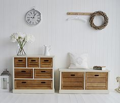 Sideboard and storage bench from The Providence range of storage furniture