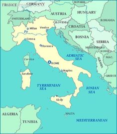 awesome Map of italy to germany
