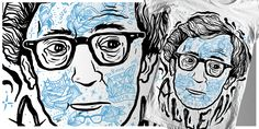 """Woody Allen"" t-shirt design by Timurzi"