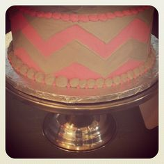 Chevron cake @Jessica Silay  I know you will love this