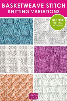 These Basketweave Stitch Variations create an interwoven illusion of texture for your next knitted project. Each of my stitch patterns gives you free written instructions, knitting charts, and video tutorials. Knitting Kits, Knitting Charts, Knitting Stitches, Knitting Patterns Free, Knitting Projects, Free Knitting, Knitting Tutorials, Knitting Ideas, Crochet Stitches Patterns