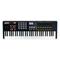 Akai Professional MPK61 USB MIDI Keyboard Controller   Akai Professional MPK61 USB MIDI Keyboard Controller The MPK61 is a keyboard performance MIDI controller that expands the popular MPK line. Each MPK controller combines a piano-style keybed with a bank of genuine Akai Professional MPC pads, assignable Q-Link controllers and key technologies from the iconic MPC family of music production workstations.     Producers, performers and DJs will appreciate the MPK61's mix of 61 semi-wei..