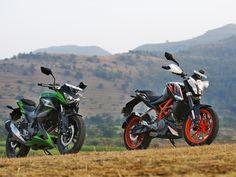 KTM 390 Duke and Kawasaki Z250