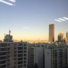 #날씨좋은날 #검은63빌딩 #야근중 #내가찍음 . . . #20160826 #ipone