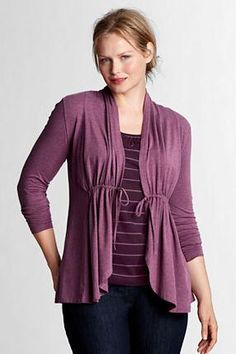 Women's Plus Size Lightweight Cotton Modal Cardigan from Lands' End