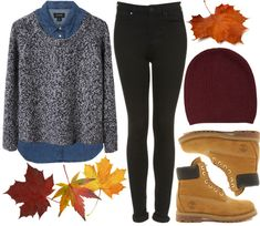 by Lolikesclothes on tumblr | outfit featuring timberlands