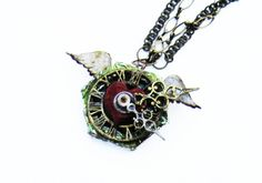 Misty for Scrap FX. Steampunk Necklace made from laser cut chipboard
