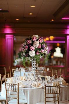 Pink and Purple New Jersey Wedding at Il Tulipano from AhmetZe - wedding centerpieces