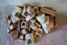 Wooden blocksForest constructor by tzatzastudio on Etsy